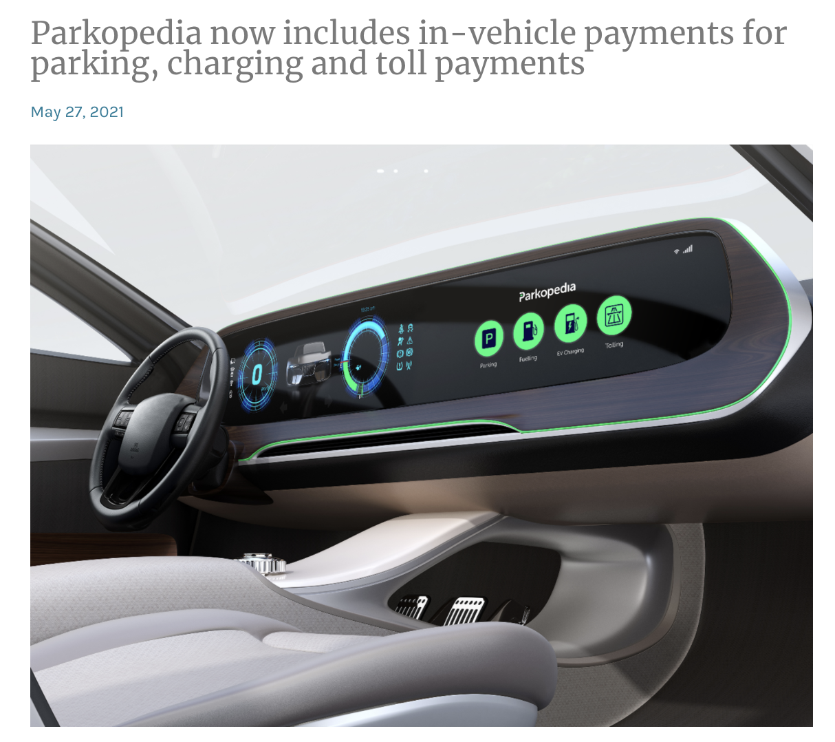 Electric Road - Payment Platfrom Coverage